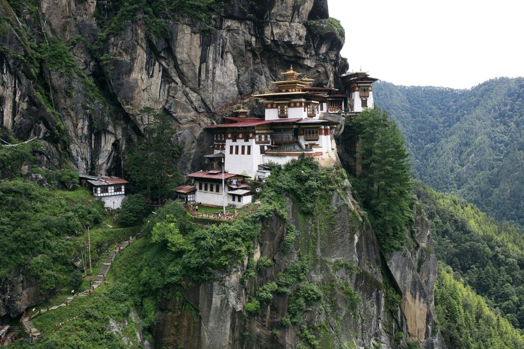 A picturesque view of Bhutan mountains