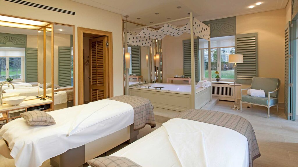 Book a treatment in the couples treatment room at the spa