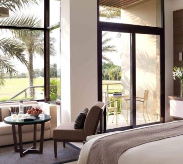 A luxurious suite at Melia at the Arabian oasis
