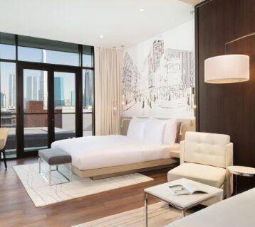 A spacious suite at La Ville Hotel