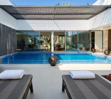 Private pool at Melia Desert Palm Dubai