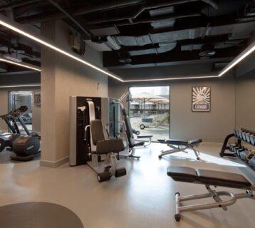 The gym at Rove Dubai Marina