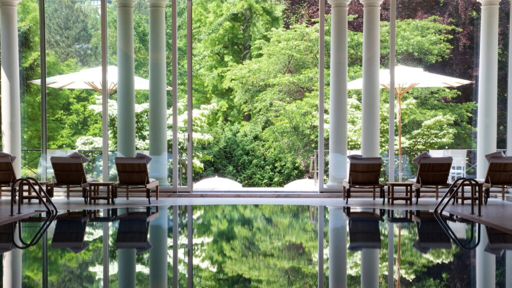 The pool at Villa Stephanie in Baden-Baden, Germany (1)